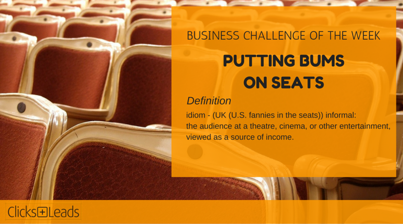 BUSINESS CHALLENGE OF THE WEEK - bums